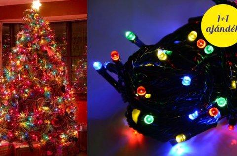 1+1 db 140 LED-es karácsonyfa izzósor