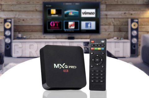 MXQ Pro 4K Smart TV box 4 magos processzorral