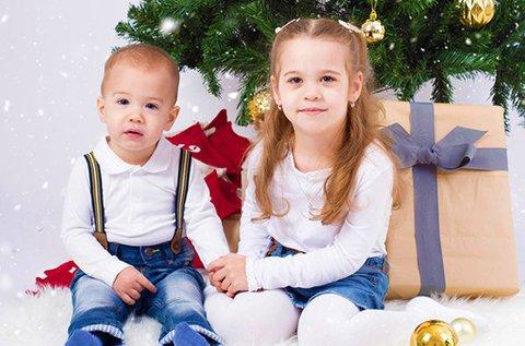 60 perces karácsonyi fotózás 6 db retusált képpel