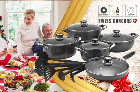 Concord Swiss gránit bevonatú edénykészlet
