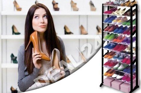 Praktikus 30 férőhelyes cipőtartó állvány