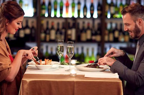 Valentin-napi romantikus vacsora 2 fő részére
