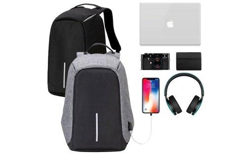 Lopásbiztos hátizsák fekete vagy szürke színben