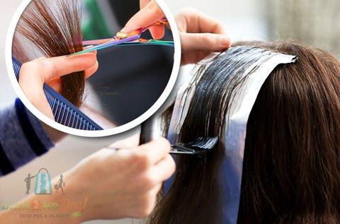 Modern frizura melírozással és hajvágással