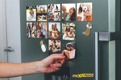 4 db egyedi hűtőmágnes saját fényképpel