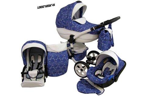 Babycruiser Arida 3 in 1 babakocsi kék-fehér színben
