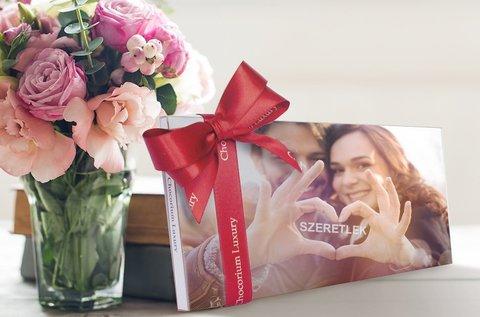 Valentin-napi fényképes belga csokoládé
