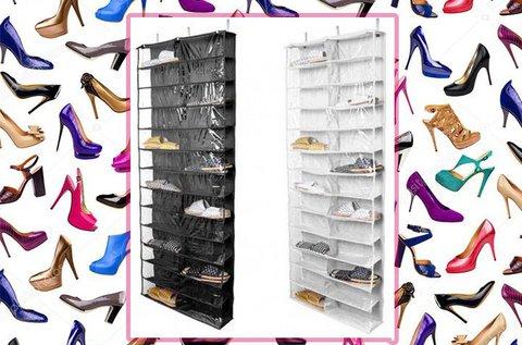 26 rekeszes ajtóra szerelhető cipőtároló