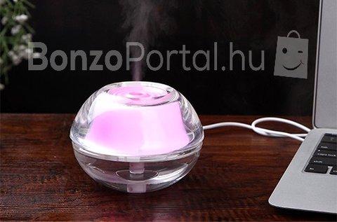 Mini ultrahangos párásító beépített LED fénnyel