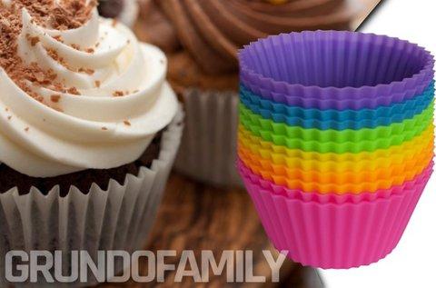 5 db színes szilikonforma muffinsütéshez