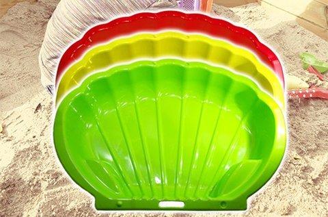 Kagyló alakú homokozó vagy medence több színben