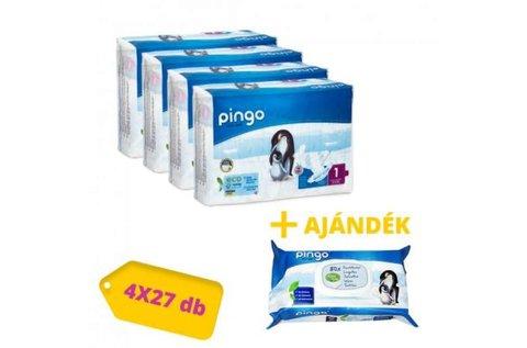 4x27 db Pingo ökológiai eldobható pelenka