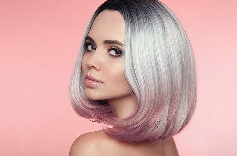 Csillogó frizura hajvágással és pakolással