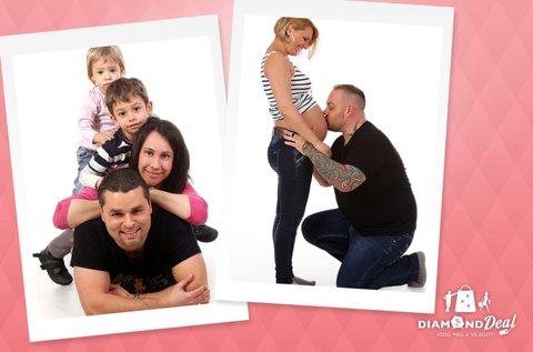 1 órás családi fotózás hangulatos műteremben