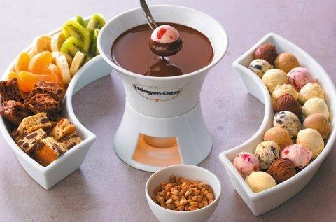 Häagen-Dazs jégkrém fondü 2 főnek belga csokival